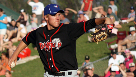 Noah Syndergaard pitched a scoreless inning at the Midwest League All-Star Game.