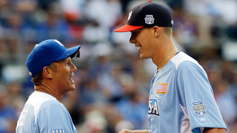Alex Meyer played for Team USA manager George Brett at the All-Star Futures Game.
